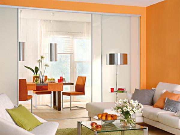 raumteiler titel-gleittüren-selber-bauen - wandfareb orange