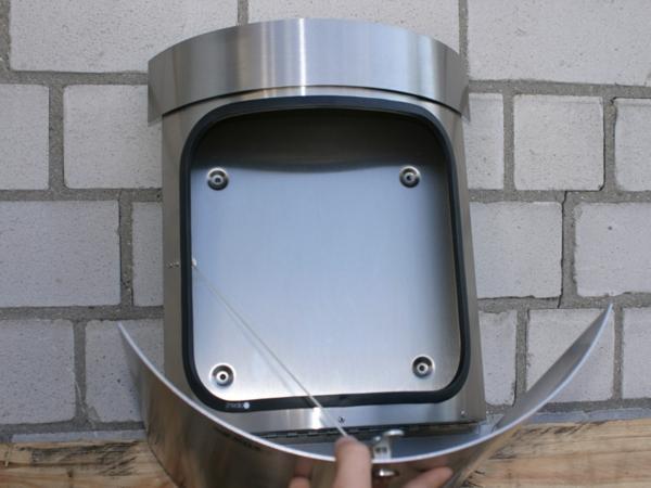 renz-briefkasten-edelstahl - modern gestaltet