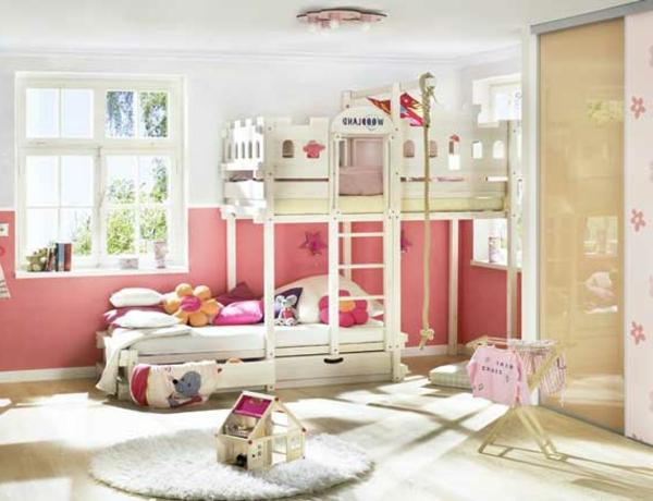 rosige-farbe-abenteuerbett - sehr niedlich aussehen
