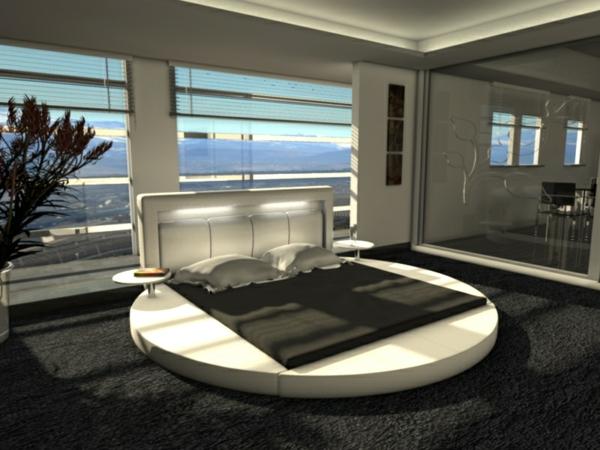 rundes-wasserbett-modern-im-luxuriösen-zimmer - wunderbar