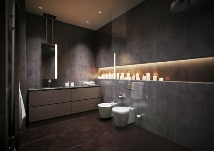 Badezimmer grau best badezimmer grau ideas on pinterest for Modernes baddesign