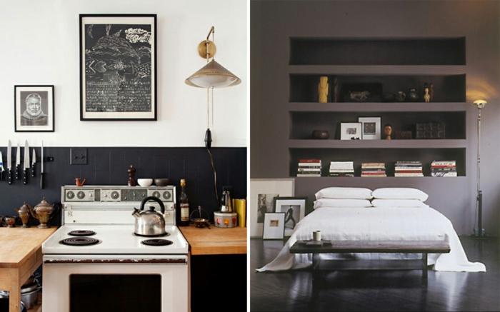 schöne-wandfarbe-schlafzimmer-graue-farbschemen