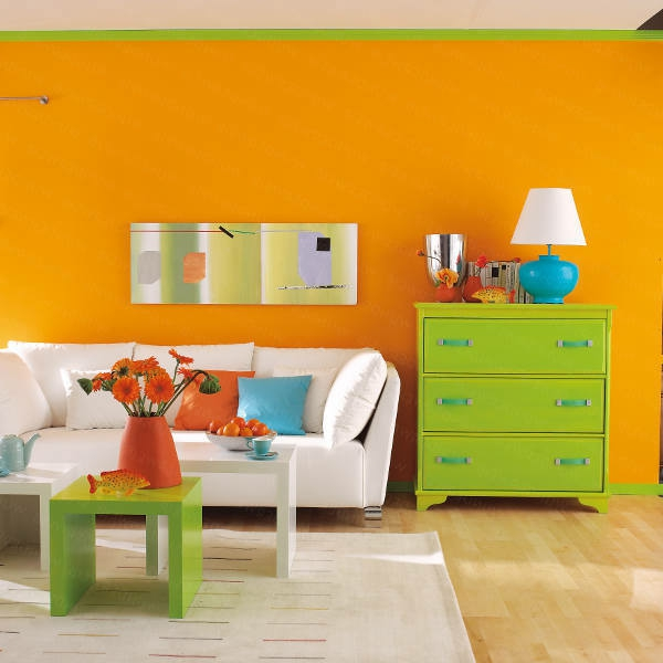 Awesome Wohnzimmer Orange Grun Photos - House Design Ideas ...