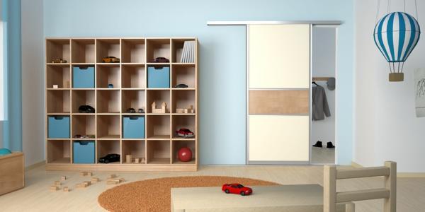 Regal selber bauen kinderzimmer  Gleittüren selber bauen - die Wohnung modern gestalten - Archzine.net