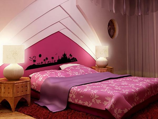 schlafzimmerwand gestalten - 40 wunderschöne vorschläge ... - Wandgestaltung Schlafzimmer