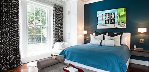 Wohnzimmer und Kamin wohnzimmerwand blau : 20170217190201 Schlafzimmer Braun Blau ~ Easinext.com