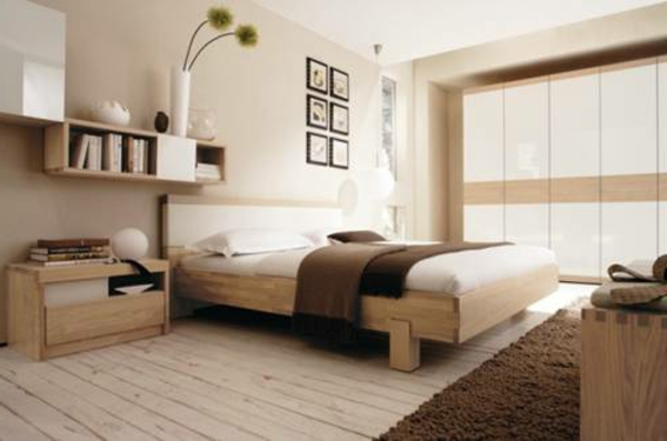 Schlafzimmer braune wand  Schlafzimmerwand gestalten - 40 wunderschöne Vorschläge ...