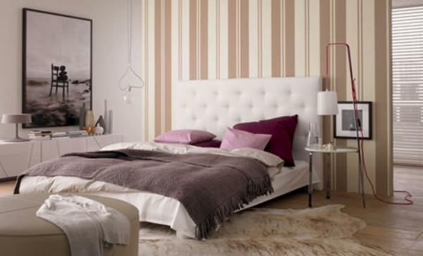 Gut Schlafzimmer Gestalten Tapete Schlafzimmerwand Gestalten U2013 40 Wunderschöne  Vorschläge!