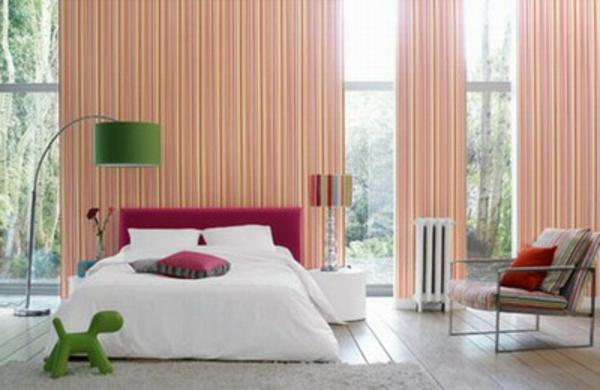Schlafzimmer Gestalten Farbe : schlafzimmergestaltenpfirsigfarbe moderne grüne lampe und