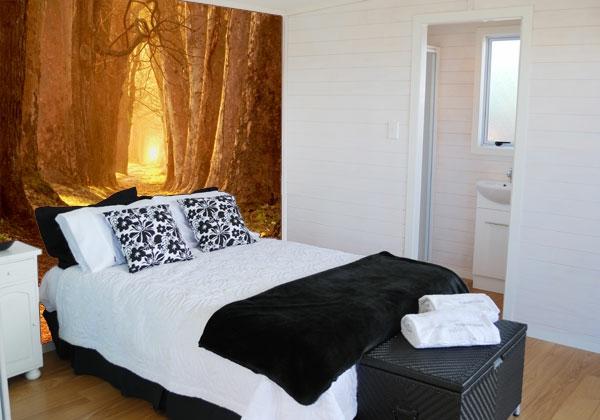 schlafzimmer-wandfarbe-wunderschöne gestaltung kleines bett