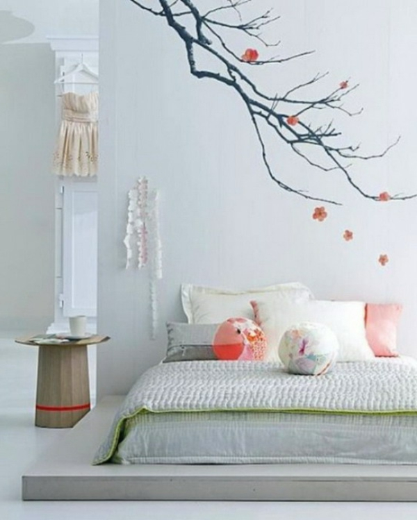 Schlafzimmerwand Gestalten - 40 Wunderschöne Vorschläge ... Schlafzimmer Wand