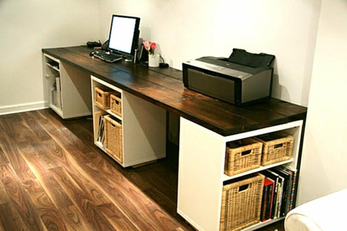 Schreibtisch selber bauen  Schreibtisch selber bauen -106 originelle Vorschläge! - Archzine.net