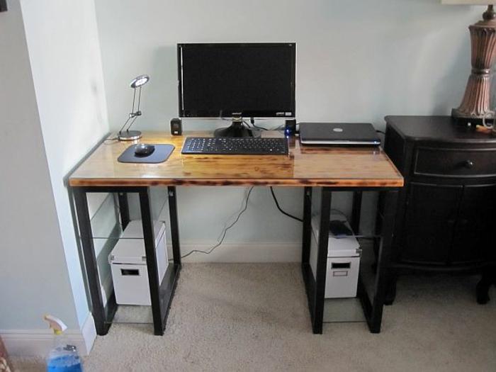 Schreibtisch selber bauen 106 originelle vorschl ge for Ecken schreibtisch