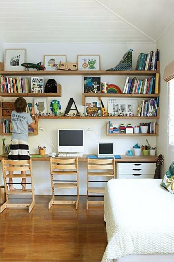 schreibtisch selber bauen ideen viele regale aus holz. Black Bedroom Furniture Sets. Home Design Ideas