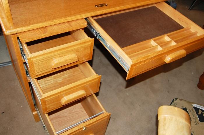 eckschreibtisch dunkles holz neuesten. Black Bedroom Furniture Sets. Home Design Ideas