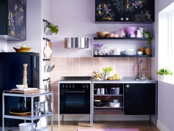 spülbecken-küche-edelstahl-modern - küchenmöbel in schwarz