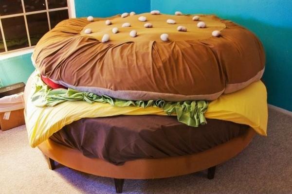 spielbett-hamburger - wunderschönes modell -komisch aussehen