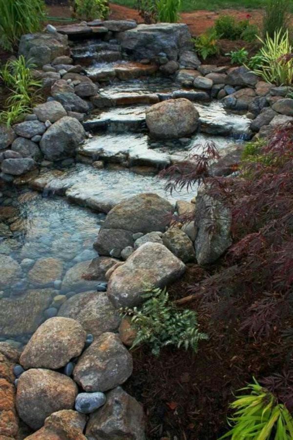 Stufenartiger Wasserfall Im Garten Wasserfall Im Garten U2013 25 Wunderschöne  Ideen | Gartengestaltung ...