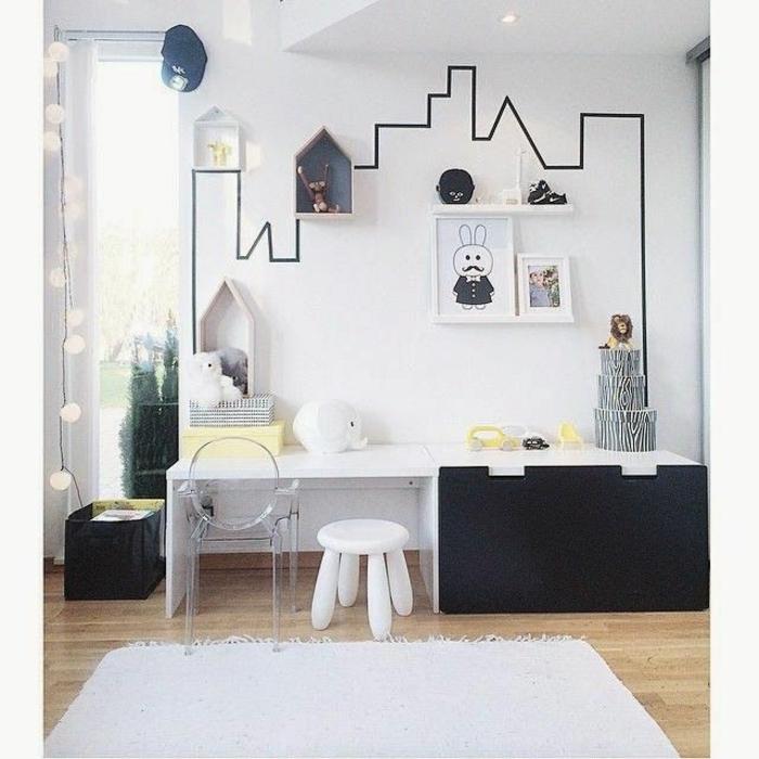 super-ideen-für-wandgestaltung-attraktives-jungenzimmer