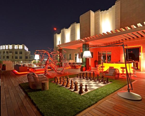 terrassenbodenbeläge-grüne-farbe - originelle beleuchtung