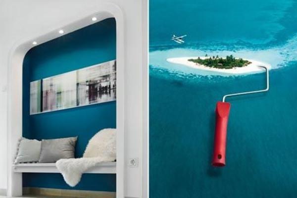 wandfarbe lagune 30 kreative beispiele. Black Bedroom Furniture Sets. Home Design Ideas
