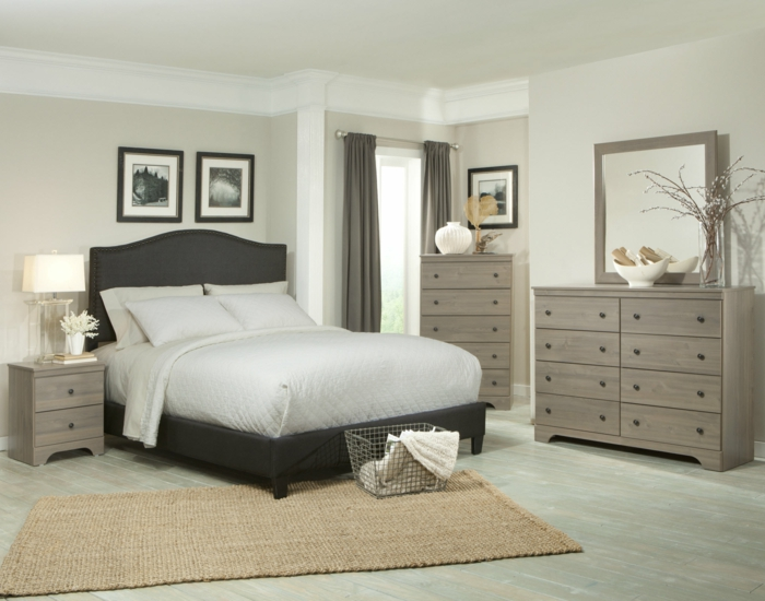 mehr als 150 unikale wandfarbe grau ideen. Black Bedroom Furniture Sets. Home Design Ideas
