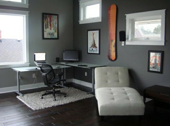 wände-gestalten-mit-farbe-grau-arbeitszimmer