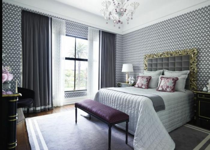 wände-gestalten-mit-farbe-grau-im-schlafzimmer