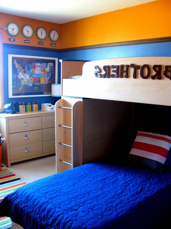 kinderzimmer orange blau streichen ~ raum haus mit interessanten ideen - Kinderzimmer Orange Blau