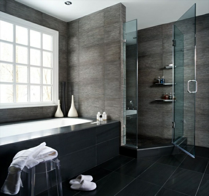 wandfarbe-angebot-fürs-badezimmer-graue-wandfarbe-und-schwarze-wandfarbe