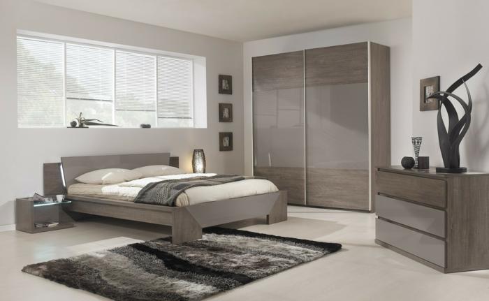 wandfarbe grau - schlafzimmer streichen ideen