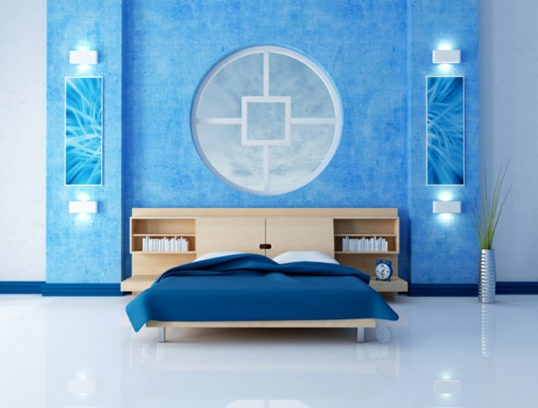 Schlafzimmer design tapeten inspiration for Tapeten schlafzimmer blau