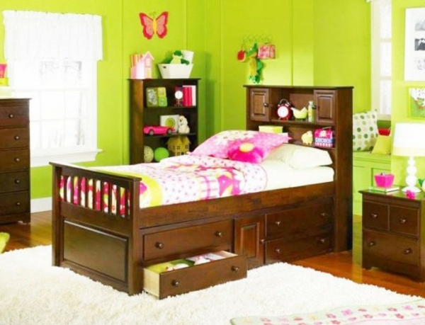 wandfarbe-grün-kinderzimmer-niedlich-gestalten - wanddeko