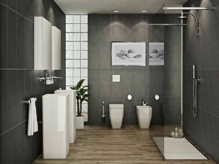 Perfekt Badezimmer Ideen Grau Weiß U2013 Topby, Badezimmer Dekoo