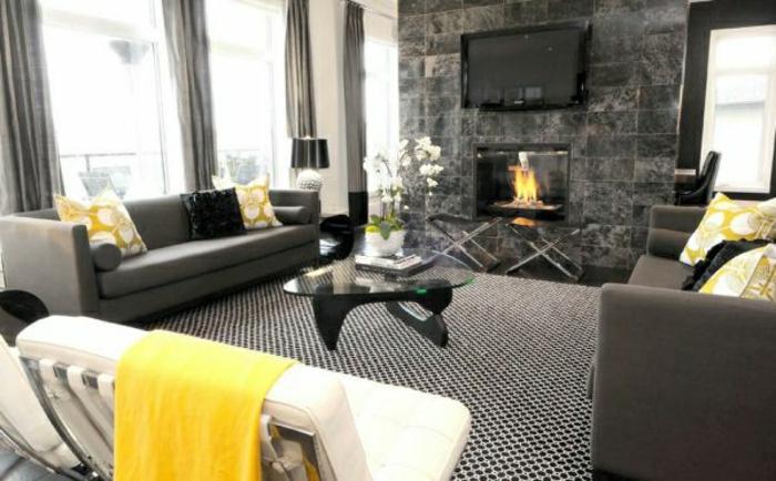 wandfarbe-grau-elegantes-wohnzimmer-mit-einem-kamin