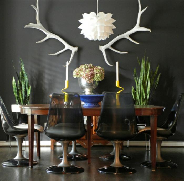wandfarbe-grau-für-elegantes-esszimmer
