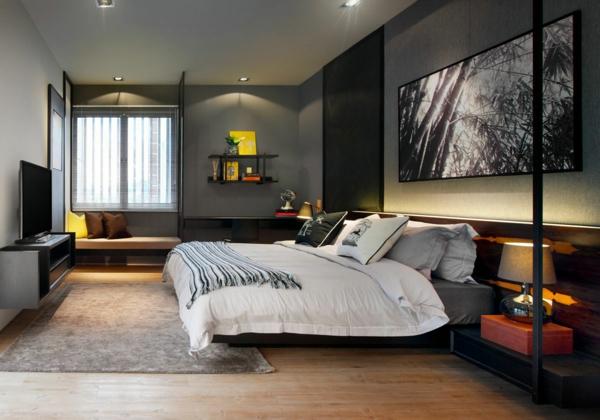 wandfarbe graut ne schlafzimmer super elegant gestalten. Black Bedroom Furniture Sets. Home Design Ideas