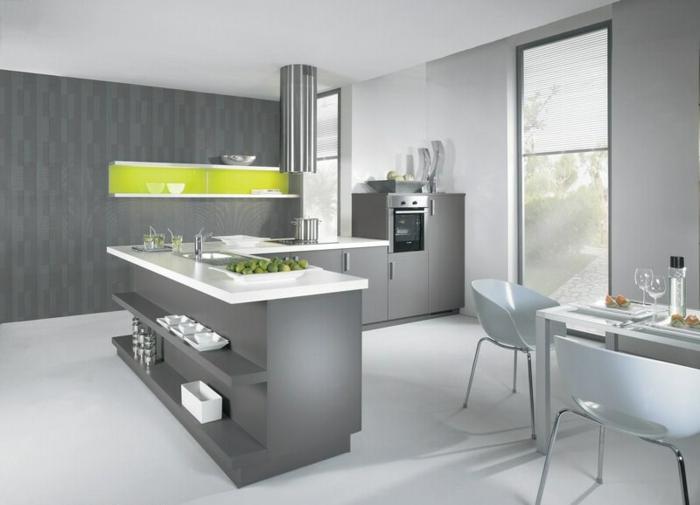 wandfarbe-ideen-für-die-küche-wandfarbe-grau-und-grün