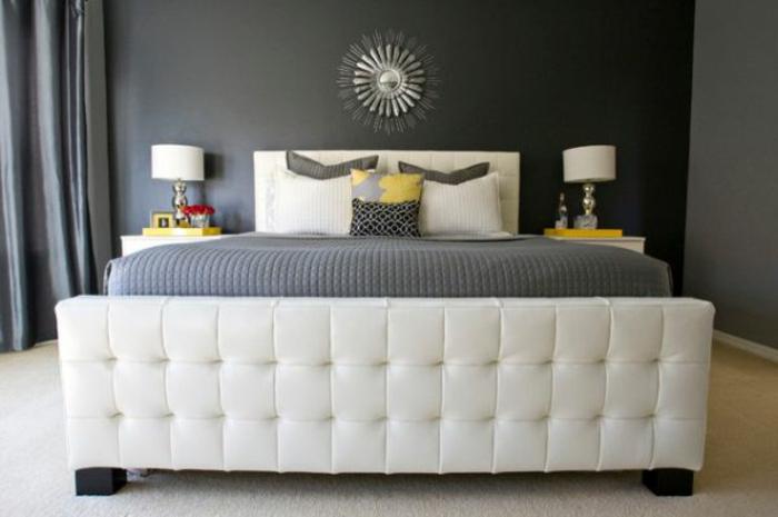 wandfarbe-ideen-fürs-schlafzimmer- graue-wandfarbe