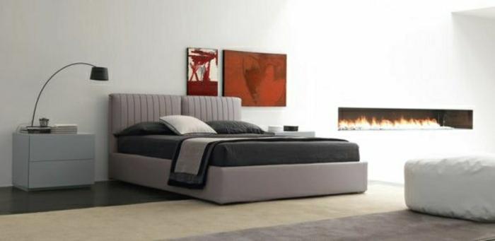 wandfarbe-schlafzimmer-grau-weiß-und-rot-kombinieren