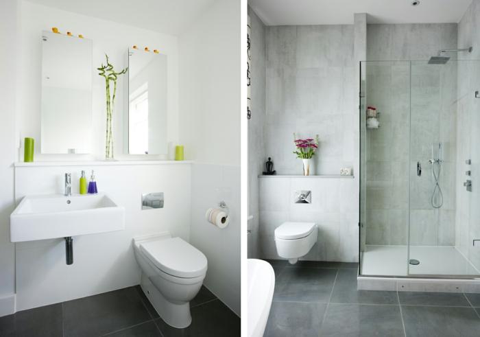 badzeimer mit der grau wandfarbe gestalten