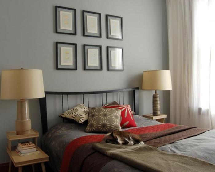 wandfarbe-schlafzimmer-schöne-graue-farbe