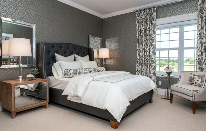 wandfarbe-schlafzimmer-schöne-graue-gestaltung