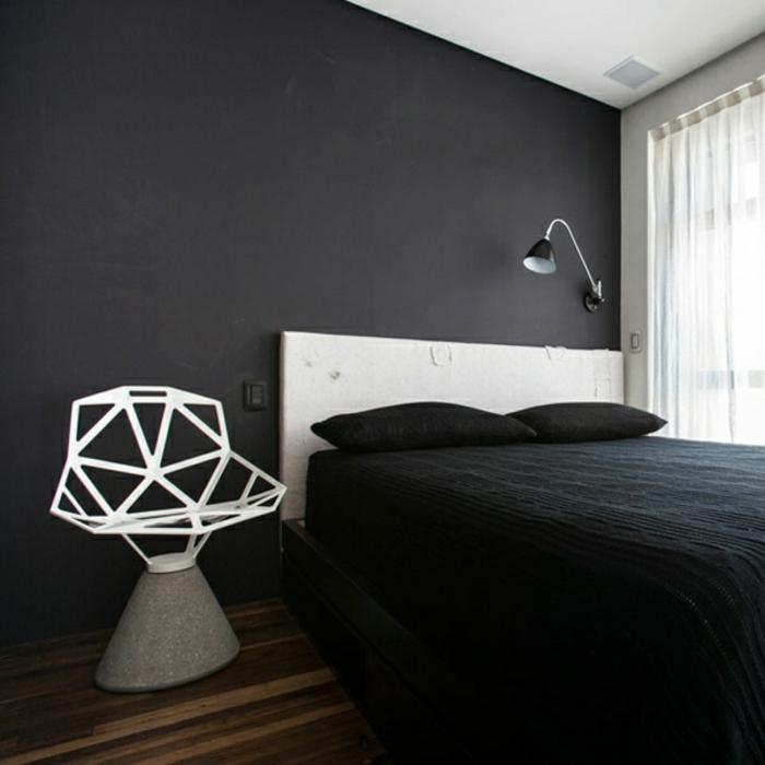 wandfarbe-trensd-für-schlafzimmer-dunkel-graue-wand