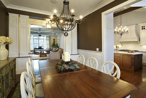 Braune Wandfarbe für eine gemütliches Ambiente im Zimmer