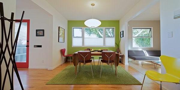 wandfarben-palette-grüne-wand-im-esszimmer - esstisch