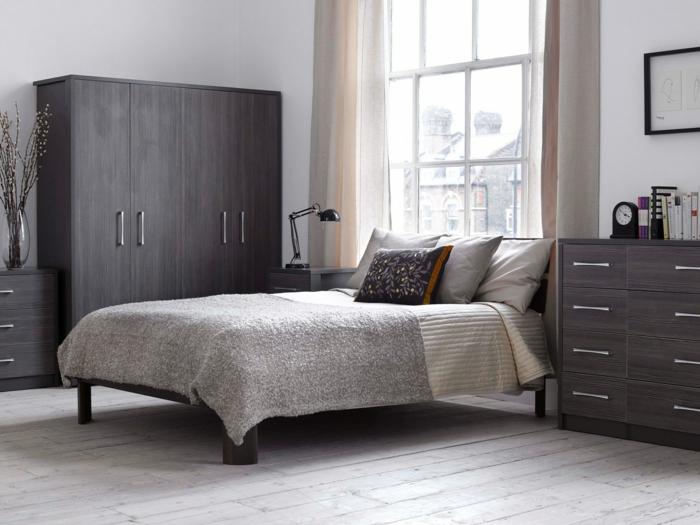 wandfarben-palette-wunderschönes-schlafzimmer-graue-farbtöne