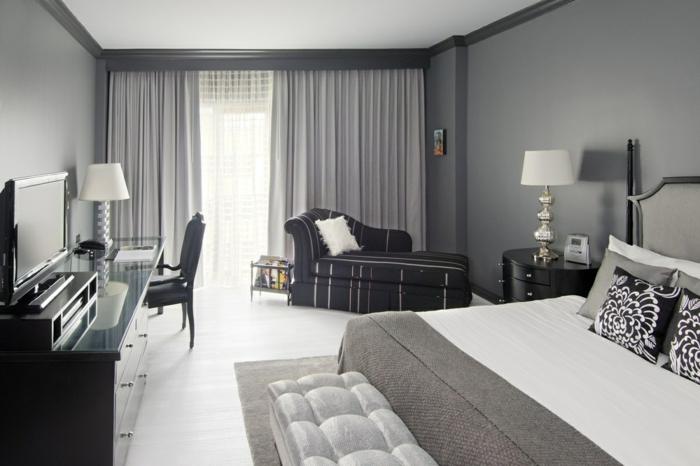 wandfarben-schlafzimmer-grau-wandfarbe