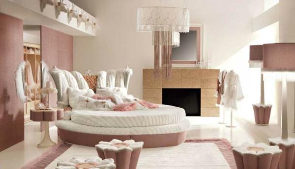 wandfarben-trends-schönes-schlafzimmer- elegantes bett
