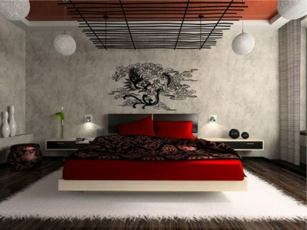 Schlafzimmer ideen wandgestaltung  Schlafzimmerwand gestalten - 40 wunderschöne Vorschläge ...